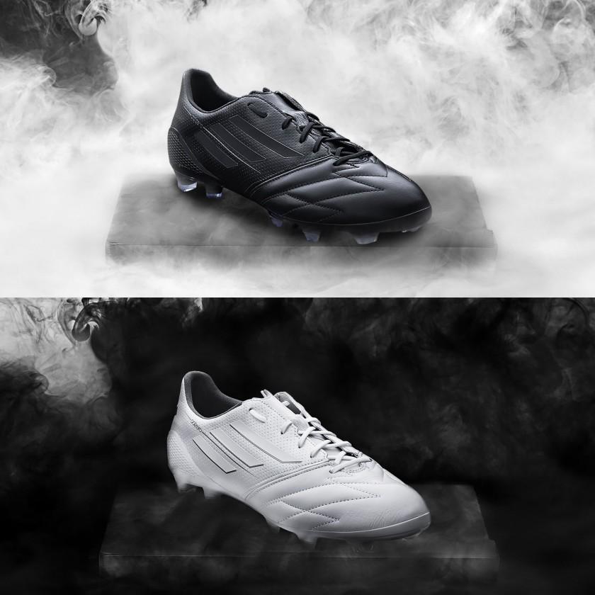 adizero F50 Fußballschuh Version 2013 - black und white Edition in Taurus-Kalbsleder 2014 von adidas