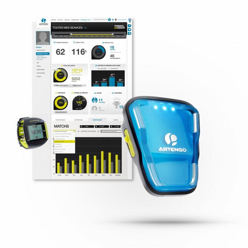 Personal Coach Sensor, Tennisuhr und Auswertung 2014 von ARTENGO/DECATHLON