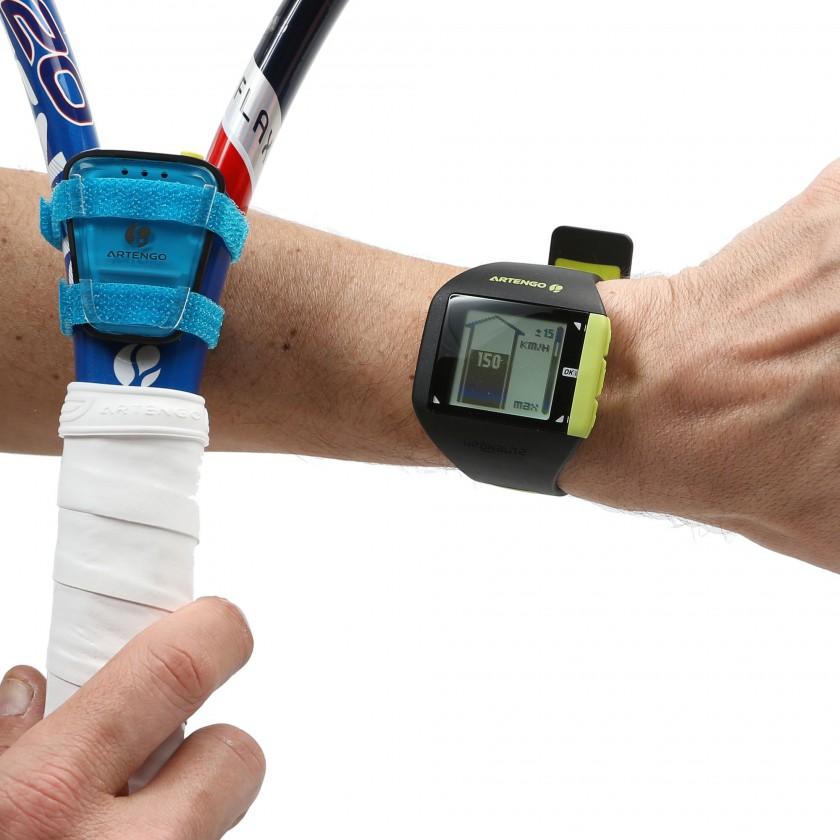 Tennisuhr Personal Coach am Handgelenk u. Personal Coach Sensor am Tennisschläger 2014 von ARTENGO/DECATHLON