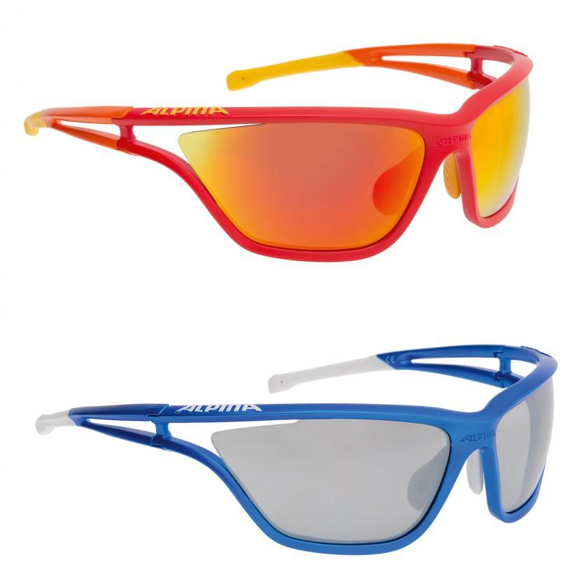 EYE-5 CM+ Sportbrille mit CERAMIC+ Scheiben rot, blau 2014/15 von Alpina Sports
