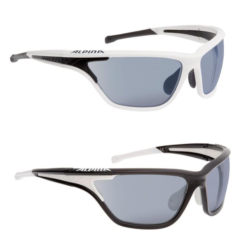 EYE-5 TOUR VLM+ Sportbrille mit VARIOFLEX MIRROR+ Scheiben weiss, schwarz 2014/15 von Alpina Sports
