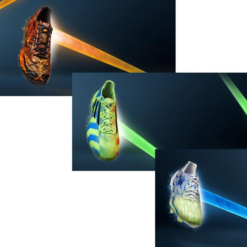 adiPure 11pro, adizero F50 u. Nitrocharge 1.0 Crazylight Fußballschuhe Edition 2014 von adidas