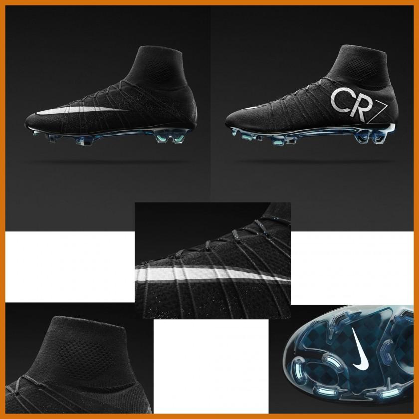 Mercurial Superfly IV CR7 Fußballschuh black outside, inside, sole 2014 von Nike