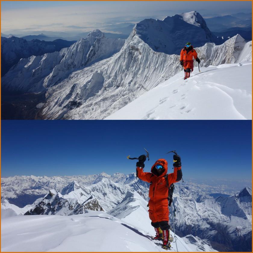 Annapurna-Gipfel: MXP Down Tek Jacket u. MXP Down Tek Pants im Einsatz 2014/15 von Millet