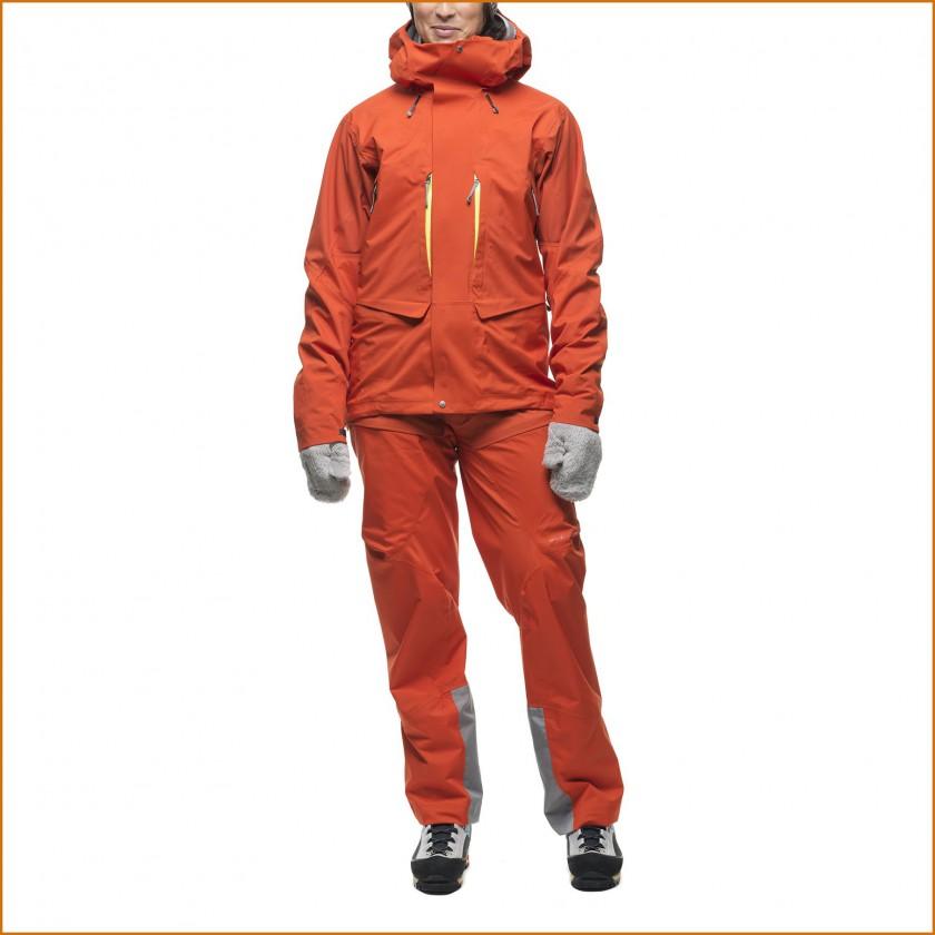 Bedrock Jacket u. Pants mit Atmos Membran Women fire-red 2014/15 von Houdini Sportswear
