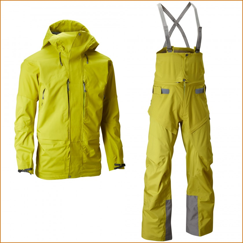 Bedrock Jacket u. Pants mit Atmos Membran Men greenmachine front 2014/15 von Houdini Sportswear