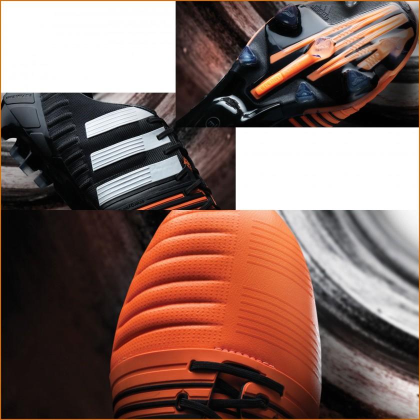 Nitrocharge 1.0 FG Version 2 schwarz-orange sohle, seite, vorne 2014 von adidas