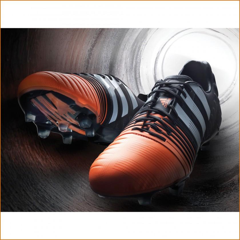 Nitrocharge 1.0 FG Fußballschuhe Version 2 schwarz-orange vorne 2014 von adidas