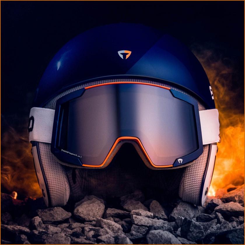 LAVA Goggle auf VULCANO 6.8 Skihelm 2014/15 von BRIKO