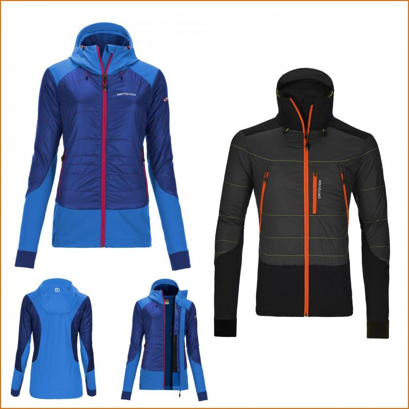 MERINO NATURETEC LIGHT Piz Pal Jacket Damen strong-blue u. Herren black-steel 2015/16 von Ortovox