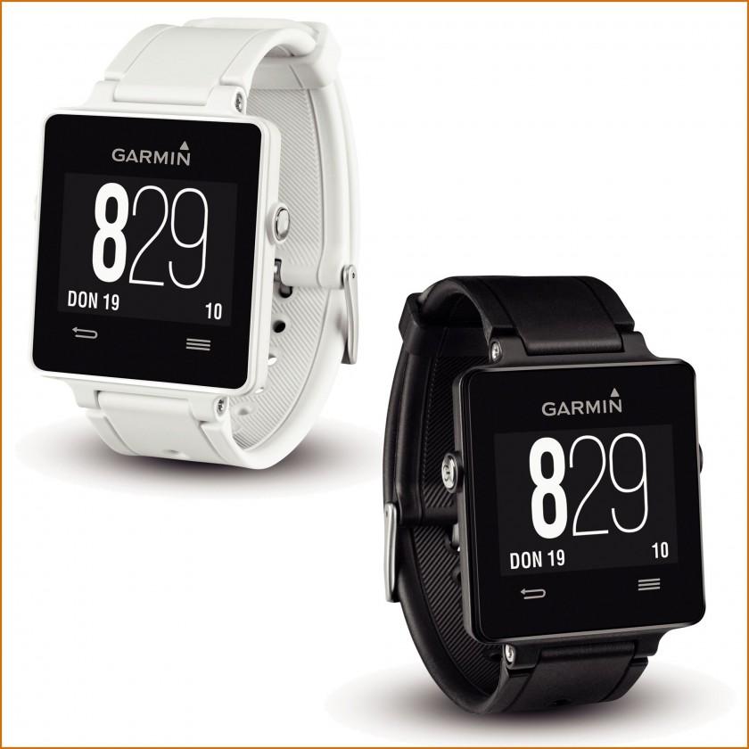 vivoactive GPS-Smartwatch: Uhrzeit, wei u. schwarz 2015 von Garmin