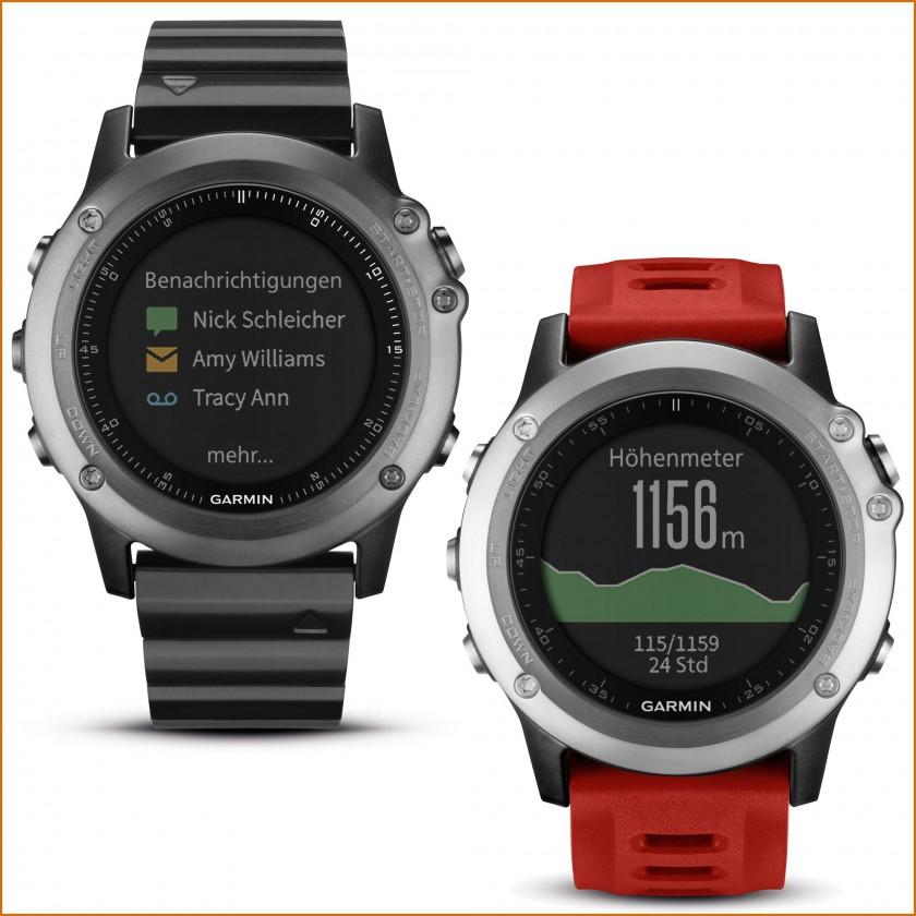 fenix 3 GPS-Multisport-/ Multifunktionsuhr: Benachrichtigungen, Höhenmeter 2015 von Garmin