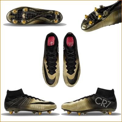 Mercurial CR7 Rare Gold sohle, oben, auen, innen 2015 von Nike
