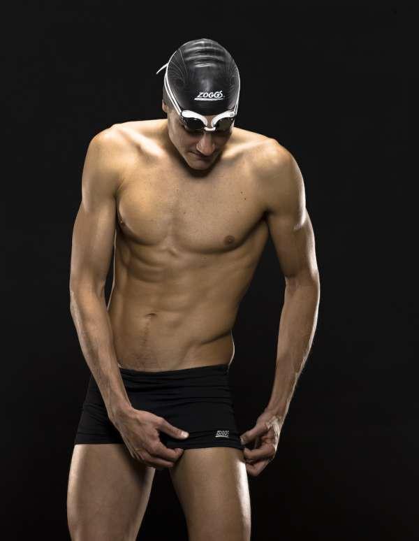 Jan Frodeno mit seiner Zoggs Cottesloe Hip Racer Schwimmhose
