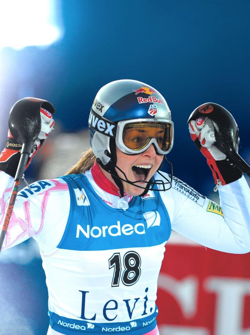 Bild Lindsay Vonn Mit Einer Skibrille Von Uvex