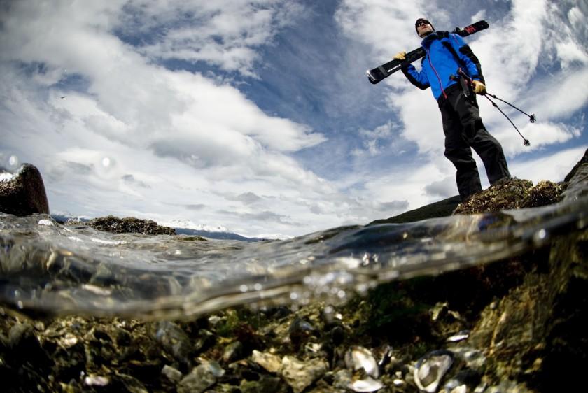 Chris Davenport whrend seiner Antarktis Expidition 2009