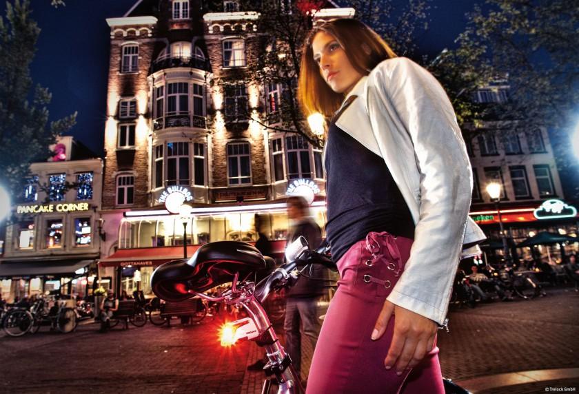 Fahrrad mit Trelock-Beleuchtungslinie Sportline