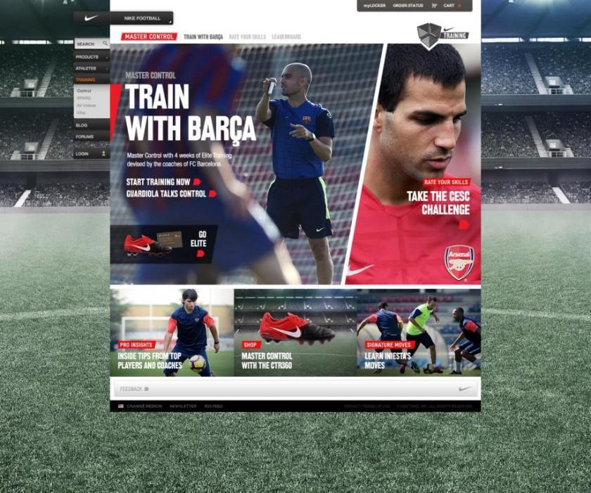 Nike Trainingsplattform Football+ mit Cecs Fabregas