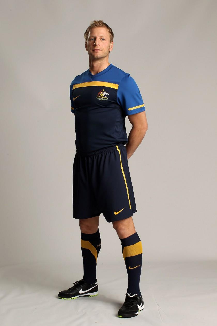 Das neue Nike-Outfit der australischen Nationalmannschaft für die WM 2010