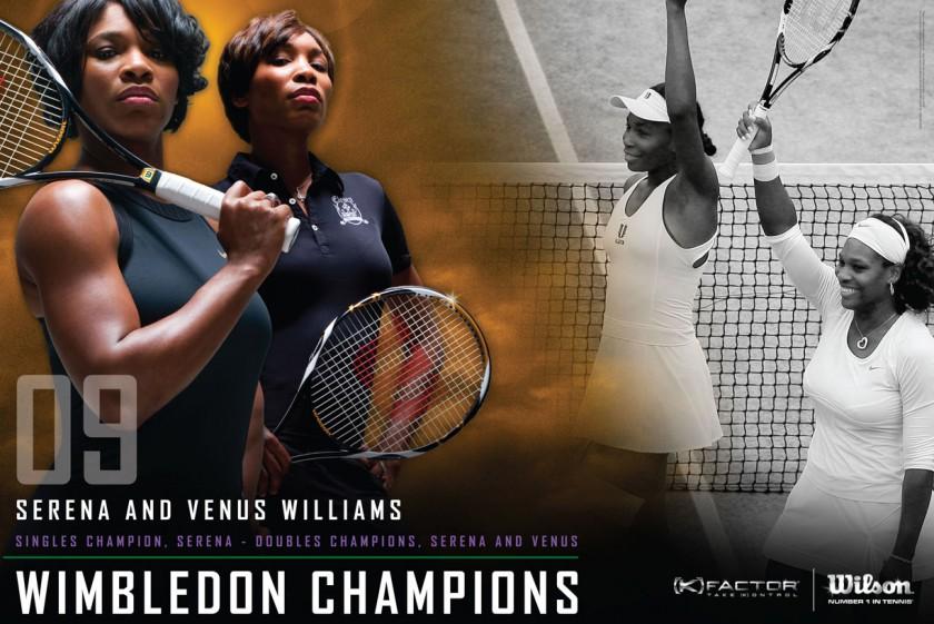 Venus und Serena Williams gewinnen das Doppel-Finale in Wimbledon 2009