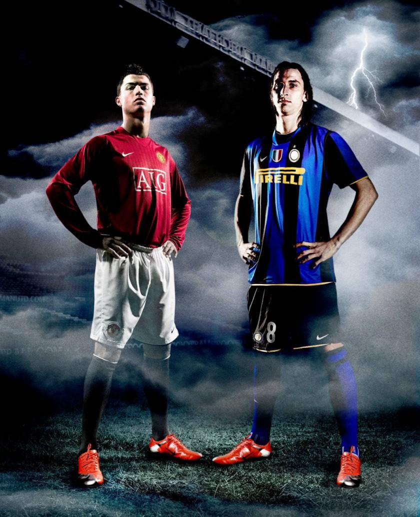 Cristiano Ronaldo und Zlatan Ibrahimovic mit dem Mercurial Vapor Superfly