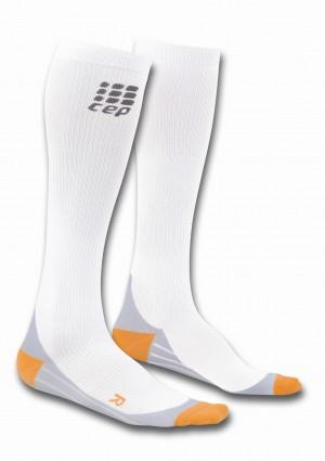 walking O2 compression sportsocks - white