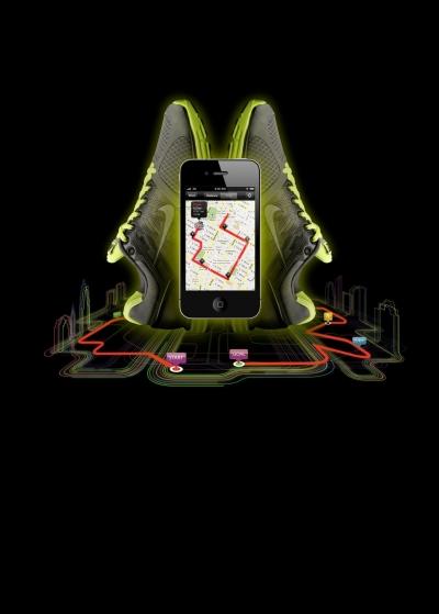 Neue Nike  Applikation mit GPS fr das iPhone