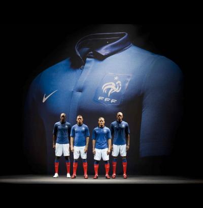 NIKE prsentiert das neue Trikot der franzsischen Nationalmannschaft