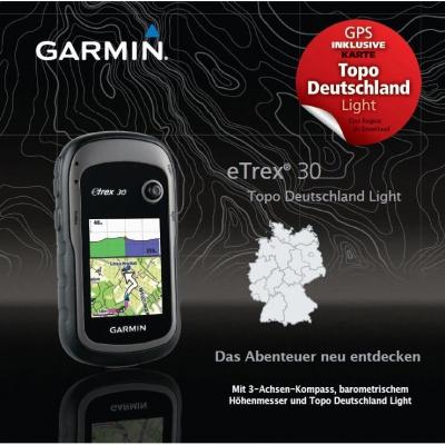 GPS-Geräte Garmin eTrex 20 und 30 mit Karte Topo Deutschland Light