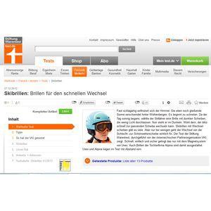 Skibrillen im Test der Stiftung Warentest: Testsieger-Modelle von Uvex und Alpina