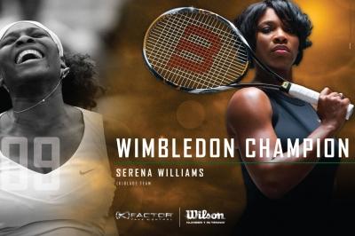 Williams Schwestern beherrschen Wimbledon mit dem Schlger K Blade Team von Wilson