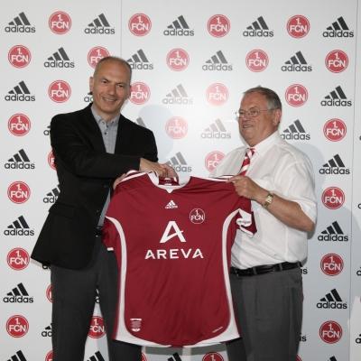 adidas prsentiert das neue Heimtrikot des 1. FC Nrnberg